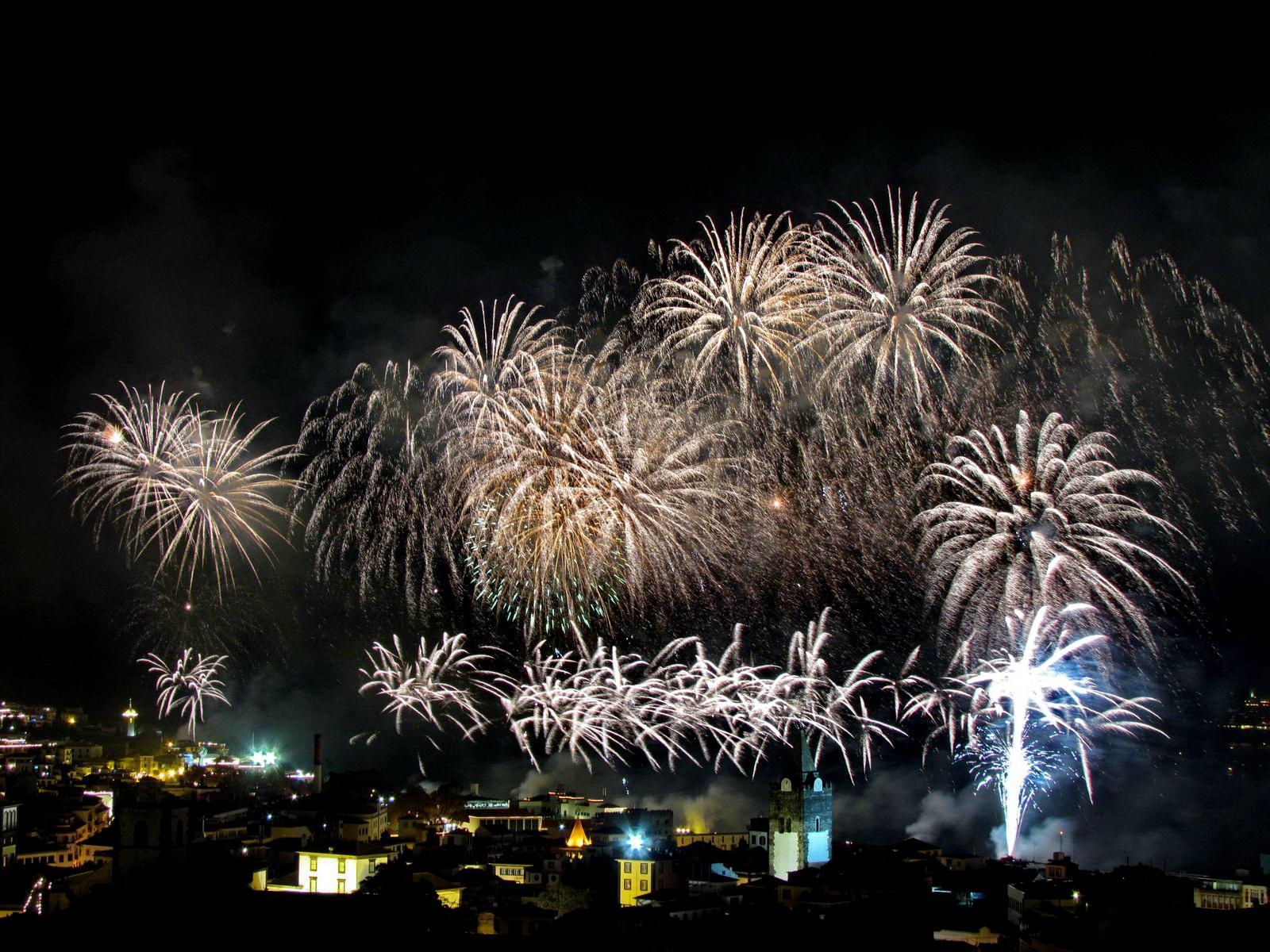 Funchal firework in 2012 new year