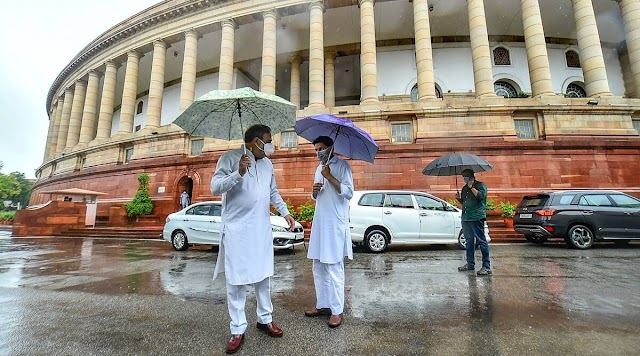 Opposition members throw papers, tear placards in Lok Sabha, three bills passed amid din