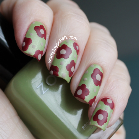Zoya Matte Wallflowers Nail Art