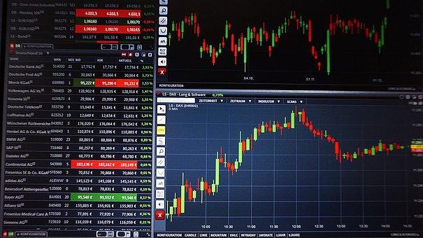 Gráfico de ações no Home Broker