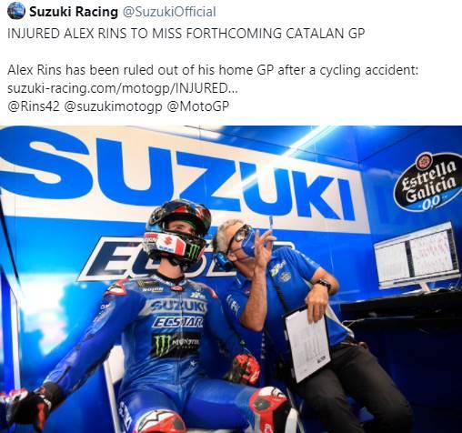 Jelang GP Catalunya 2021, Alex Rins Dipastikan Absen Karena Ini…