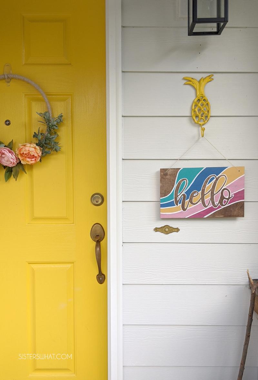 hello sign for front door