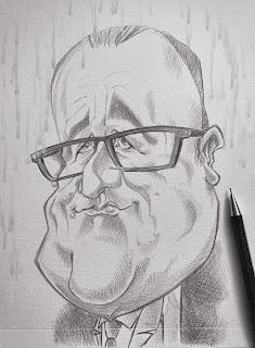Il pleut sur mon dessin... #Hollande ©Guillaume Néel