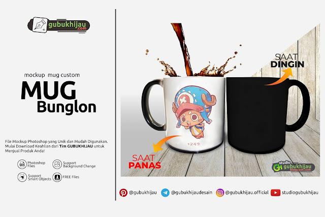 Mockup Custom Mug Bunglon