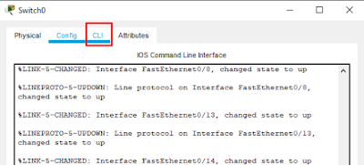Konfigurasi switch CLI Cisco Packet Tracer