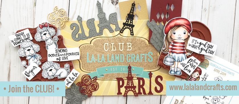 Trinity Rose Designs: Club La-La Land Crafts April 2019 Club Kit