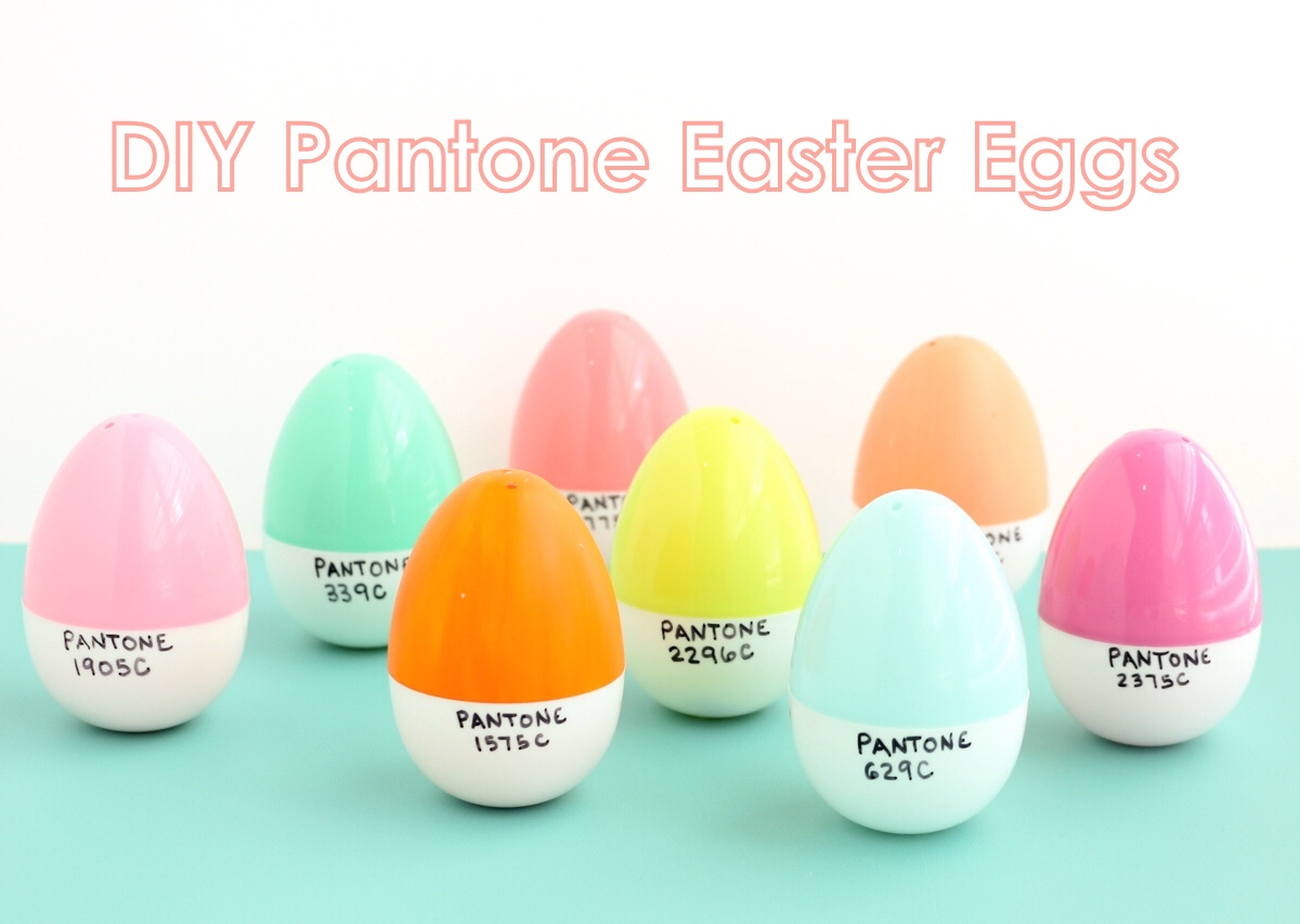 There Are Two Ways To Go About Making These Plastic Pantone Eggs And While They Both Super Simple One Method Will Have You With Your Own Batch Color