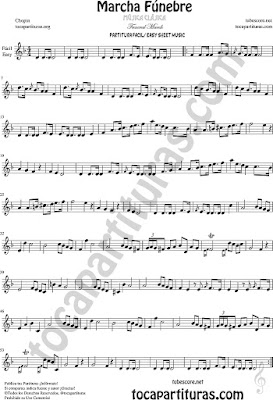 Easy Sheet Music funeral March Flute, oboe, Violin, Easy Tone