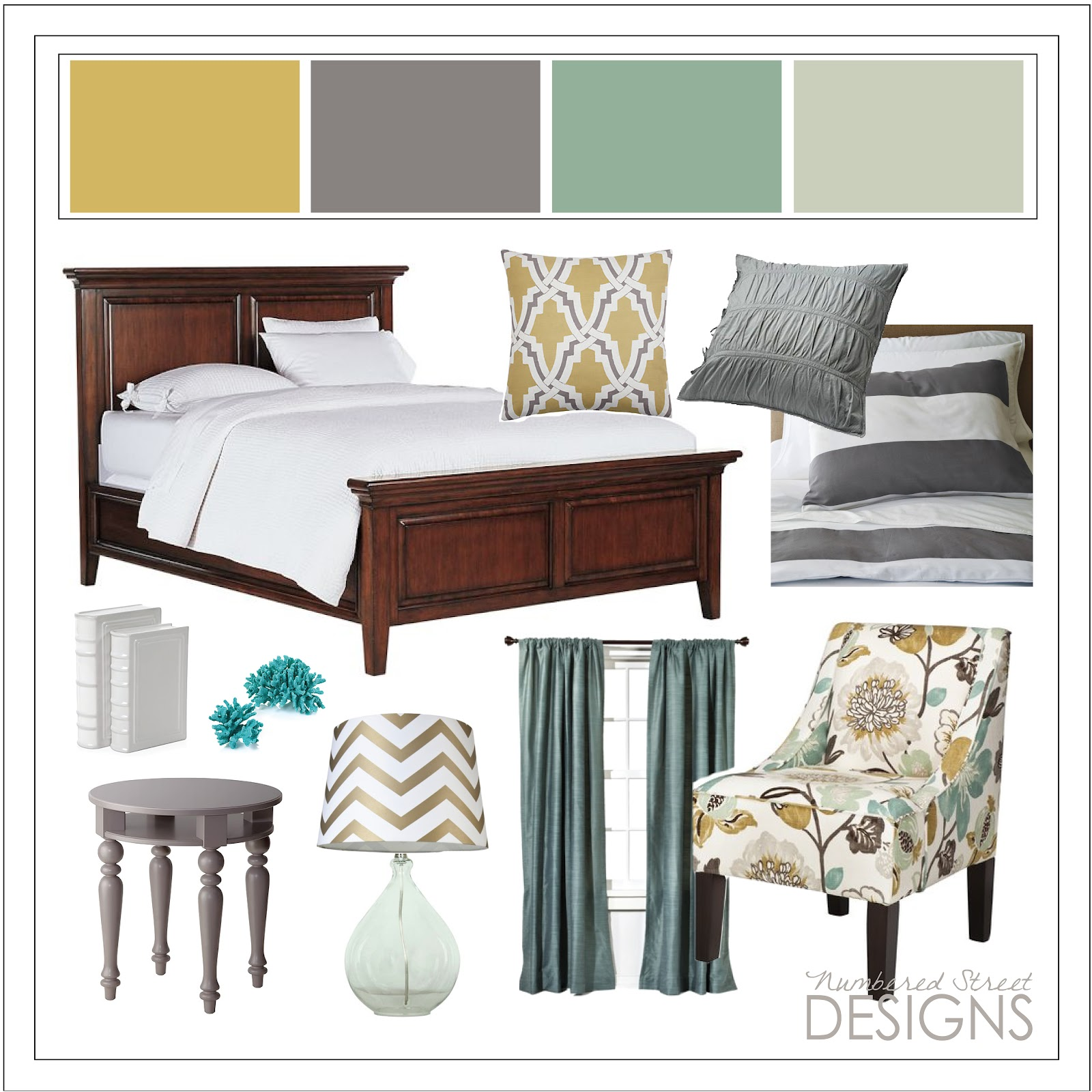 Bedroom Interior Design Board