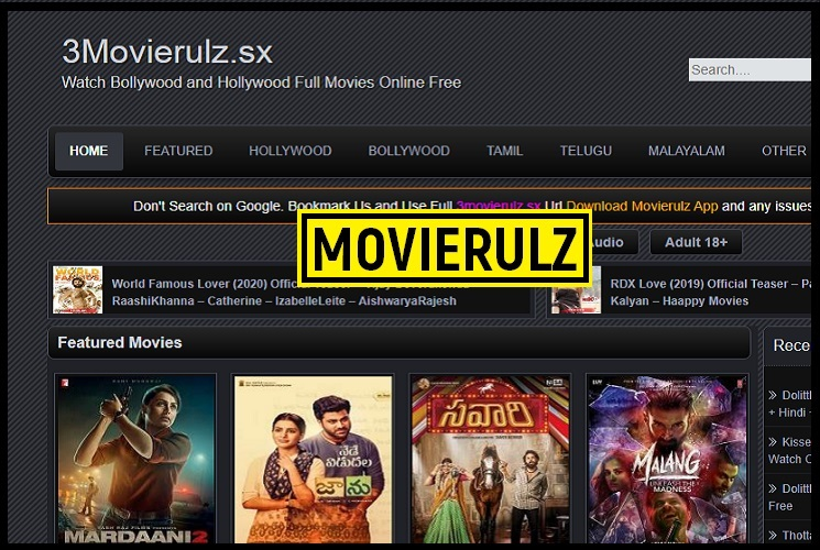 3Movierulz: Watch & Download Free Tollywood, Bollywood, Hollywood & Tamil Movies Online