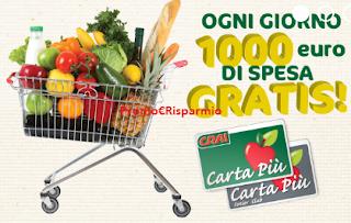 Logo Vinci ogni giorno 1.000 euro di Spesa gratis