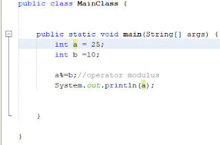 operator modulus dan pengisian