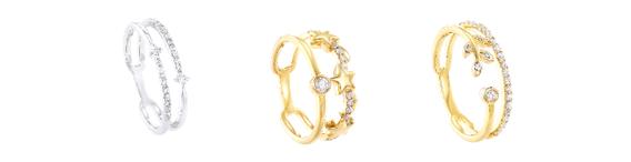 Antara rekaan yang terdapat dalam Koleksi DWA termasuk kerlipan dua bintang, gabungan bintang diselangi berlian dan dedaun bertatahkan berlian