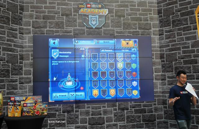 On to the online LEGO NEXO Knights game, Merlok 2.0 app