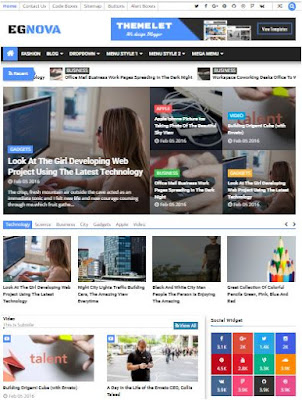 Egnova Adsense Responsive Blogger Templates Without Footer Credit