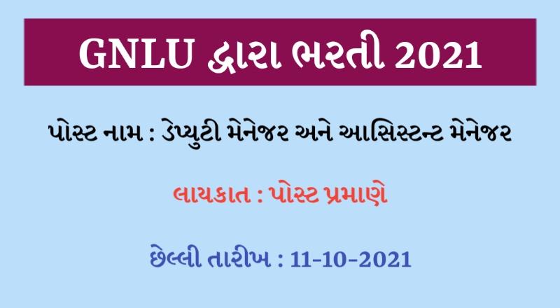 GNLU Recruitment 2021