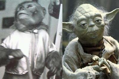 www.fertilmente.com.br - Mestre Yoda quase foi representado por um Macaco de mascara