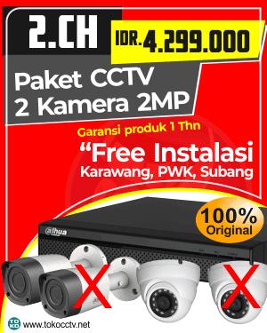 PAKET CCTV 2 KAMERA + INSTALASI | GARANSI PRODUK 1 TAHUN