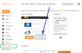 Edit Blogger Template