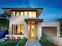 White contemporary house design idea