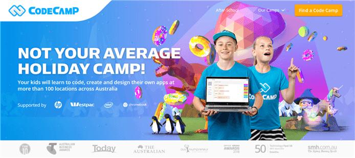 オーストラリアの Code Camp 公式サイト画像写真