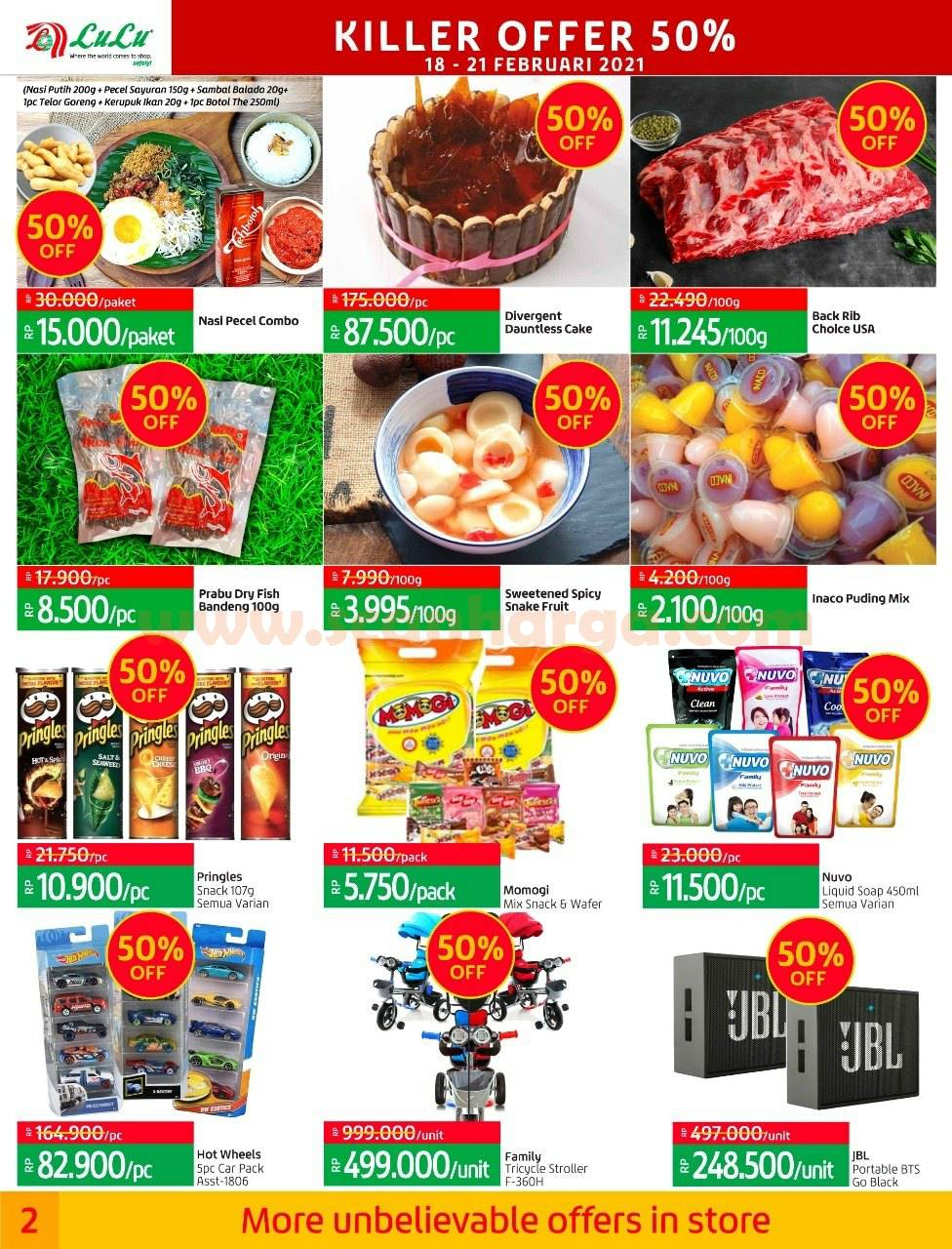 LULU Promo Weekly Price Buster! Katalog Killer Offer 50% Periode 18 - 21 Februari 2021