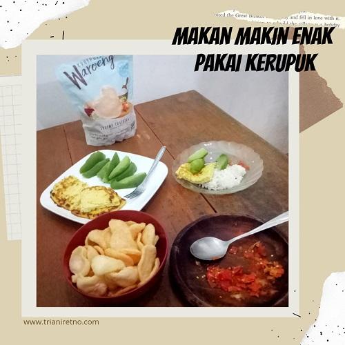 kerupuk dalam hidangan Nusantara