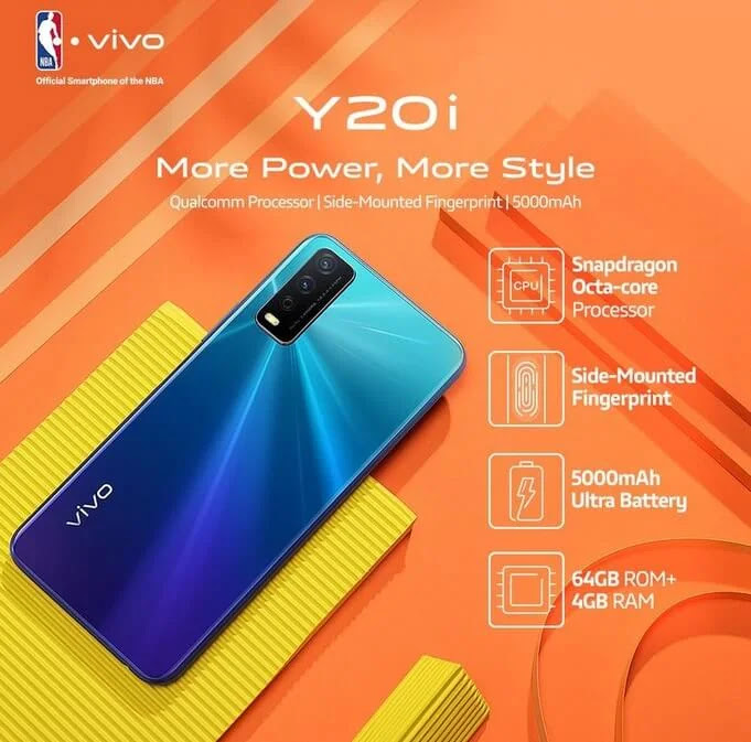 Vivo Y20i with Octa-Core SDM460, 4GB RAM, and 5000mAh Battery is Priced at Php7,499