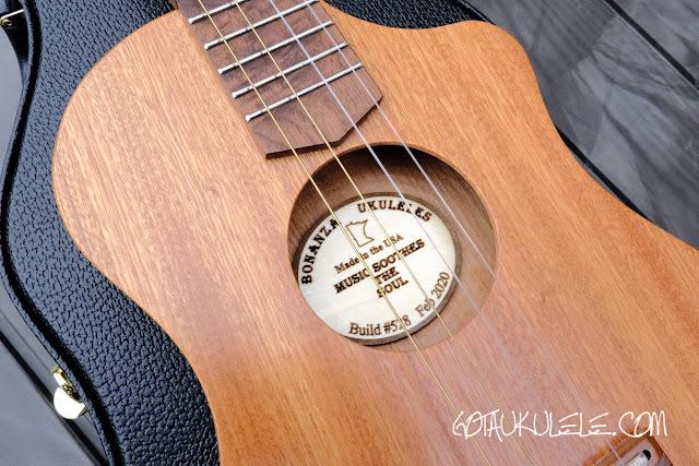 Bonaza Homestead baritone ukulele cutaway