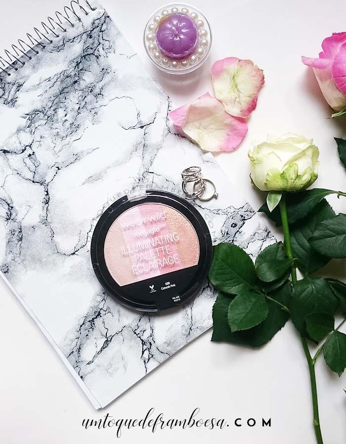 Resenha sobre a paleta de iluminadores Catwalk Pink da marca norte-americana Wet'n Wild