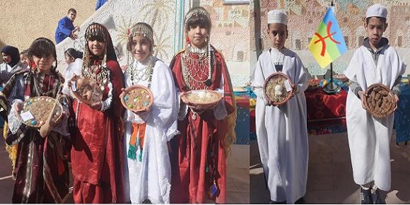 مدرسة بغرداية بالجزائر يتحفلون بالسنة الأمازيغية 2970 ghardaia