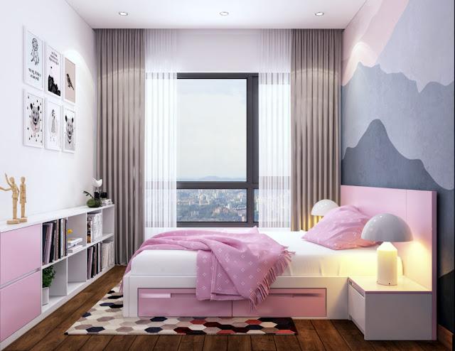 Nội thất tham khảo Phòng ngủ căn hộ The Sun Mễ Trì