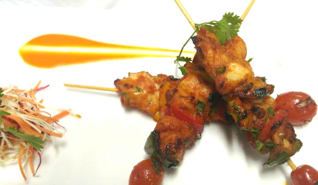 chilly fish skewers