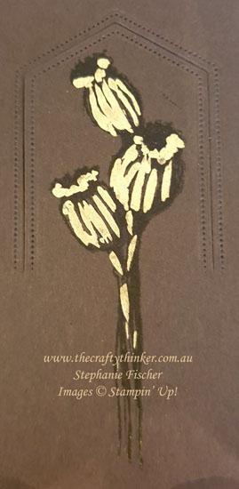 #thecraftythinker #stampinup #cardmaking #diecutting #howtoadjustsizeofdiecut , Enjoy The Moment, Gilded Leafing, Extending a die cut,  Stampin' Up Demonstrator Stephanie Fischer, Sydney NSW