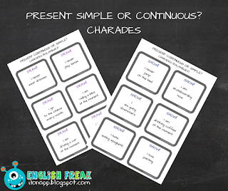 Present Simple or Continuous Charades