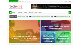 Techwise Magazine and news Blogger Templates
