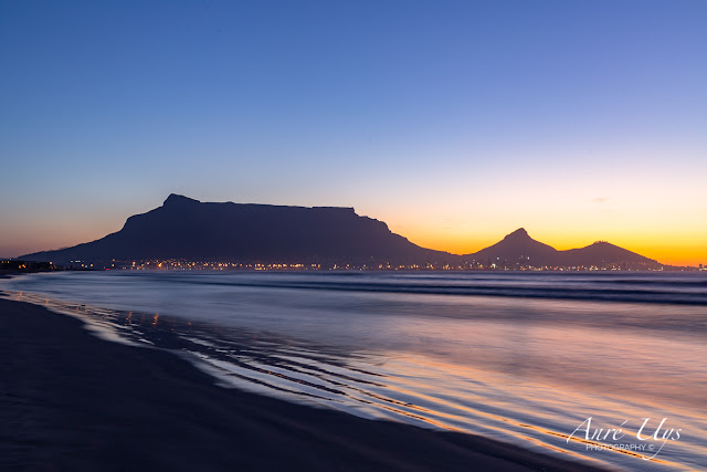 Long Exposure with Table Mountain as the backdrop