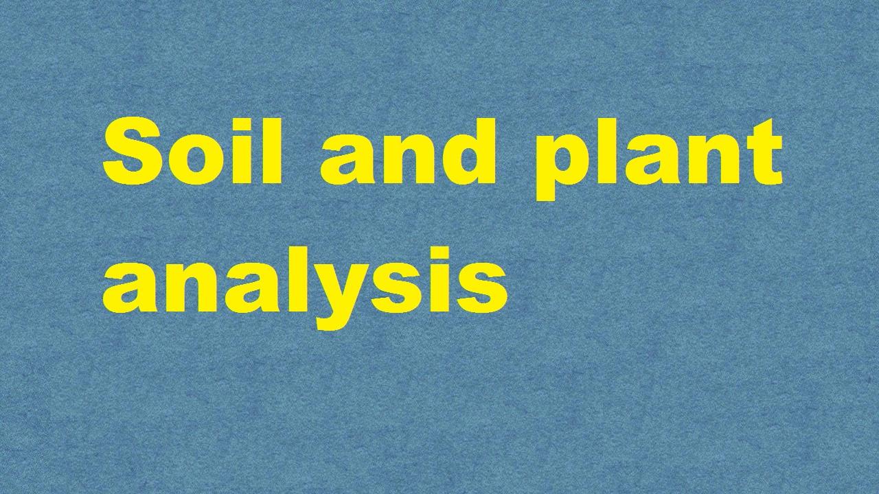 Soil and plant analysis ICAR E course Free PDF Book Download e krishi shiksha