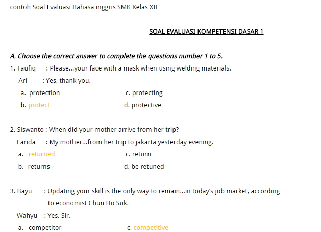 Contoh soal try out un bahasa inggris dan kunci jawabanya soal contoh soal try out un bahasa inggris dan kunci jawabanya stopboris Images