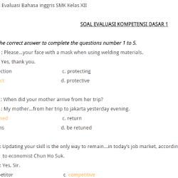 Contoh Soal Try Out Un Bahasa Inggris Dan Kunci Jawabanya Soal