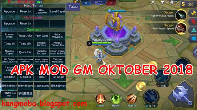 APK MOD GM (Game Master) Mobile Legends Oktober 2018