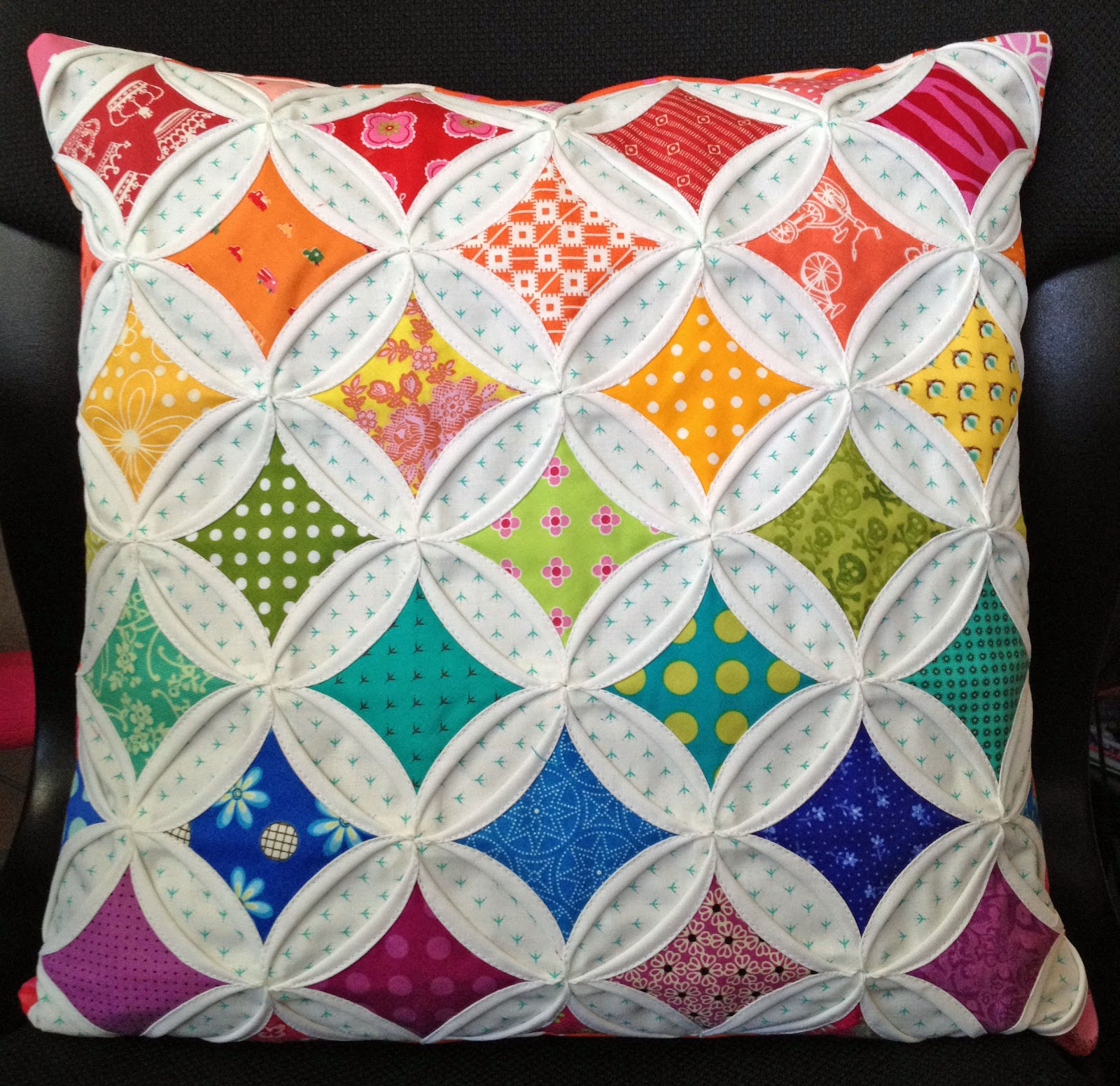 Diary Of A Quilt Maven Faux Cathedral Windows Pincushion