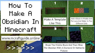 how to make obsidian In minecraft