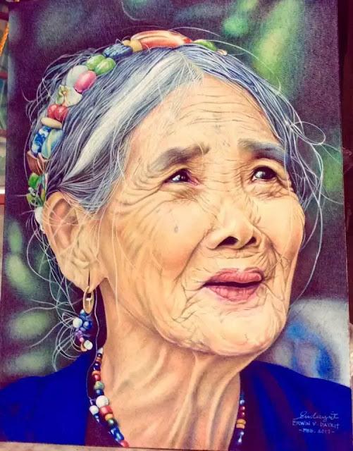 Filipino Midget Creates Realistic Paintings Using Ballpoint Pen