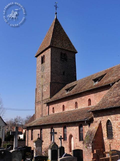 ALTENSTADT (67) - Eglise Saint-Ulrich (XIe-XIIe siècles) (Extérieur)