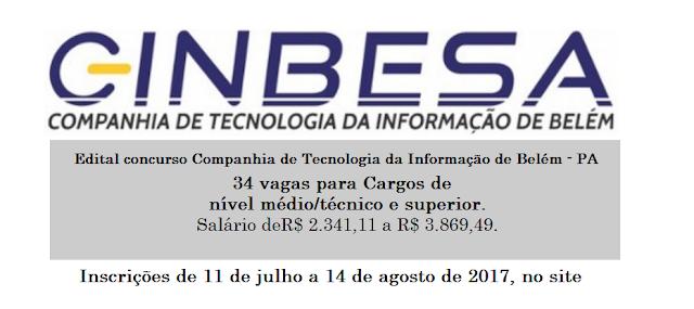 Apostila Concurso CINBESA 2017 - Agente Administrativo (Download)
