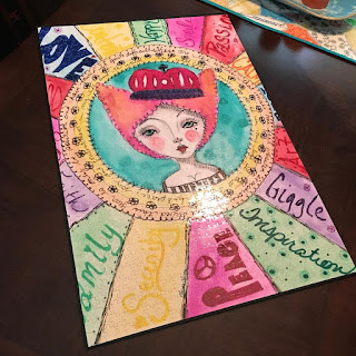 Quirky Queen original art Puzzle