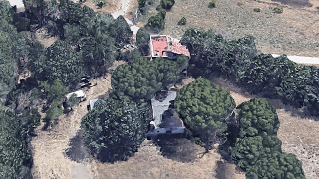 Vista aérea de las casas