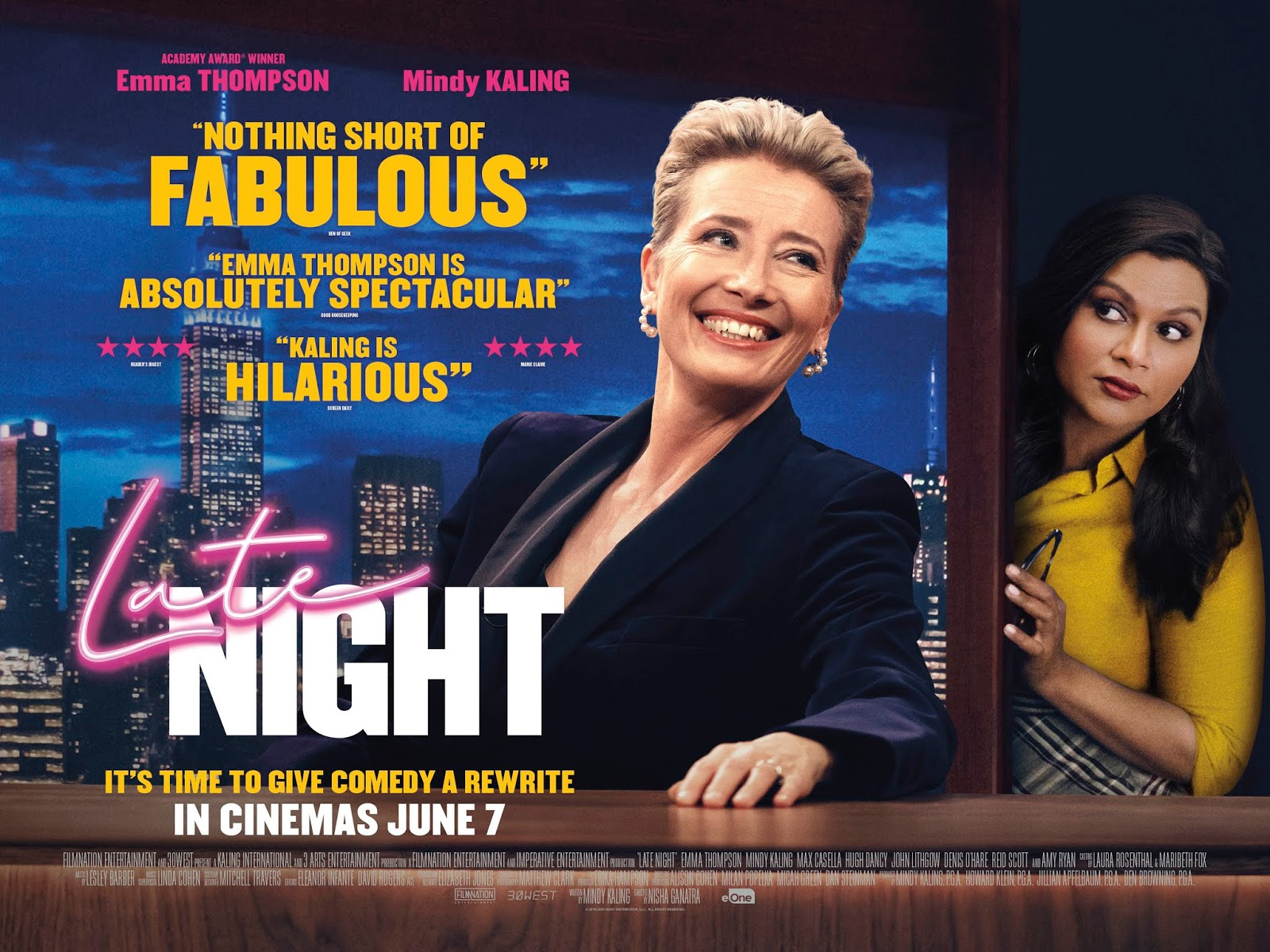 Been To The Movies Late Night Emma Thompson And Mindy Kaling Join Forces