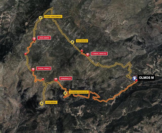 mapa ruta btt javalambre